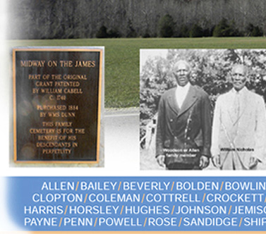 African American family lines, ancestors and descendants of Lovingston, and Massies Mill, Nelson, Virginia.